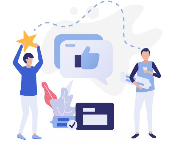 Reputation Marketing - Sharing Reviews Image