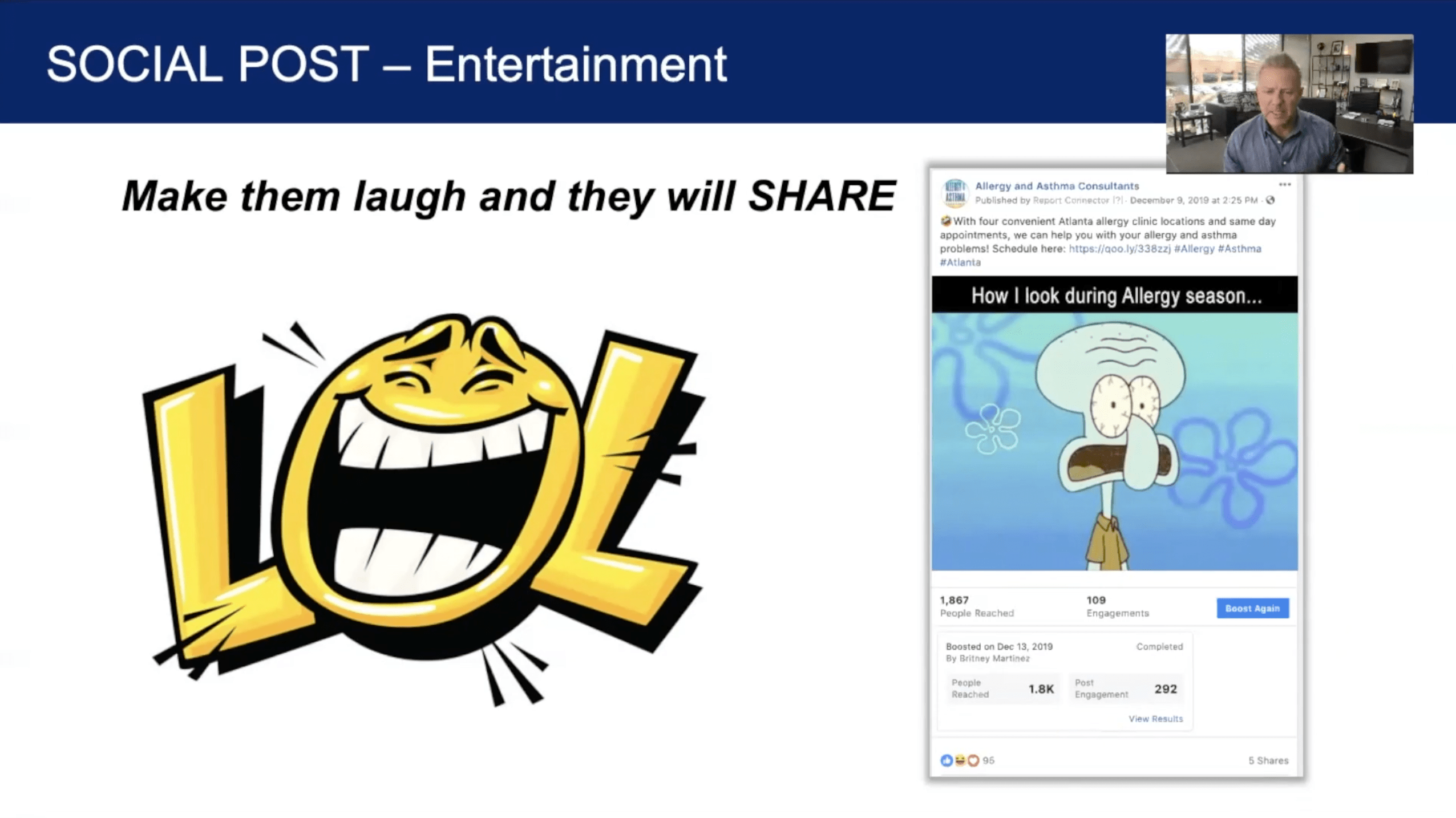 Social Post - Entertainment - Page Screen Shot